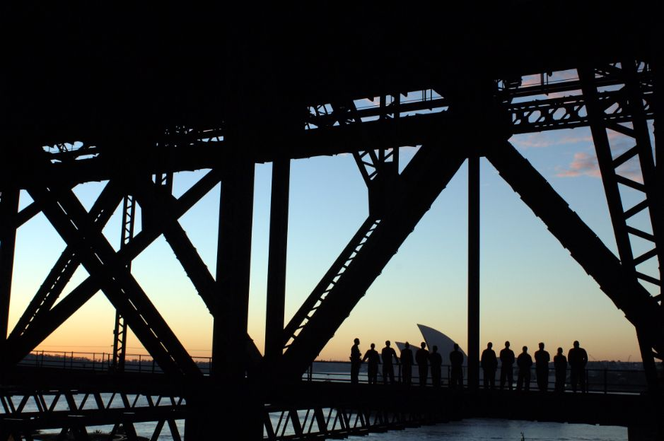 Sydney Harbour Bridge at dawn